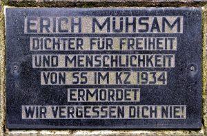 Gedenktafel Erich Mühsam
