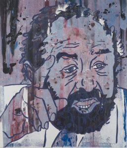 Lernens Geschichte (Bruno Kreisky Portrait von Otto Muehl)