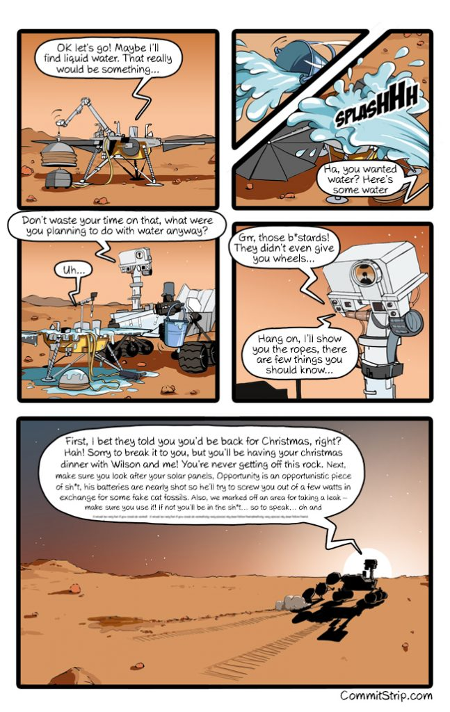Meanwhile on Mars #14 – Welcome, Insight