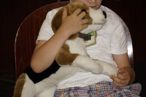 Stofftier als Therapiehund