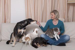 Elisabeth Berger mit ihren Tieren