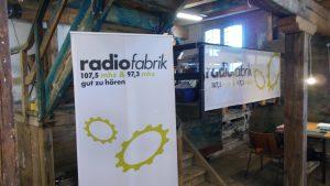 """Unser RadioFabrik Außenstudio im Raum """"Upper Salt"""""""