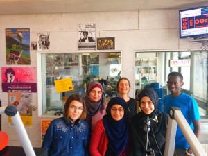 Die Jugendlichen des Forumtheaters zu Diskriminierung im Arbeitsmarktzugang