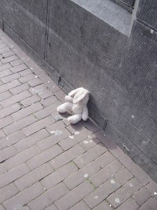 traurig und einsam