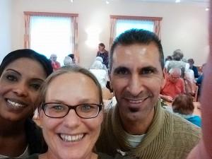 Fatma, Martha und Alaa beim Oktoberfest