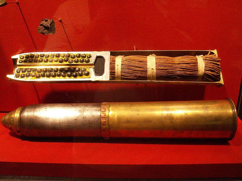 British Schrapnel shell (Wikipedia)