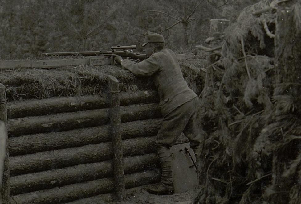 Austrian sniper, 1916 (Österreichische Nationalbibliothek)