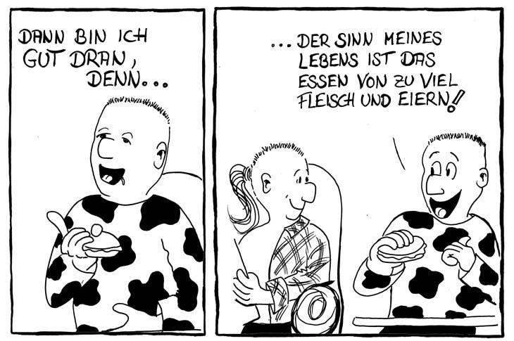 essen gehen comic